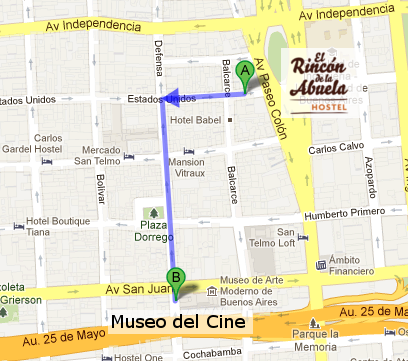 Mapa Museo del Cine