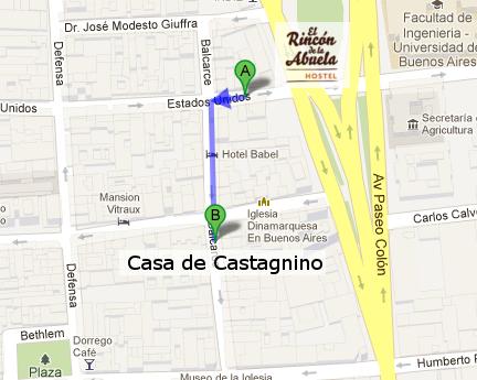 Casa de Castagnino Mapa