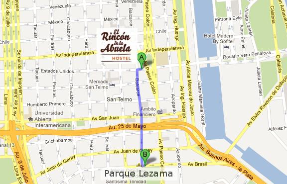 Como llegar al Parque Lezama